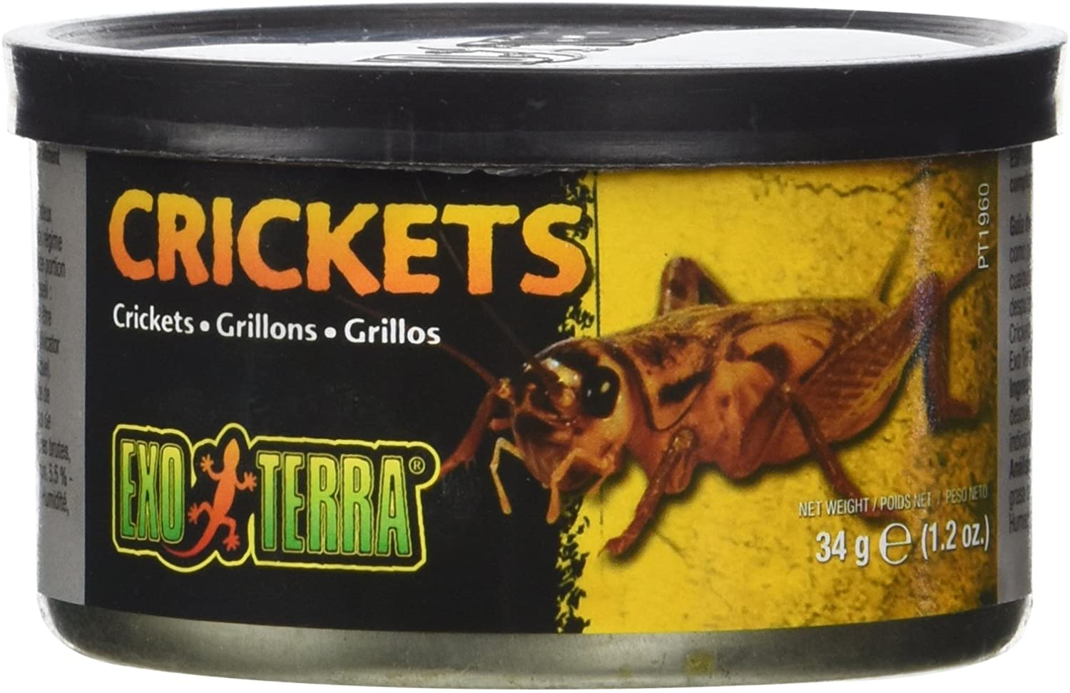 Exo Terra Specialty Reptile Food, Canned Crickets for Reptiles, PT1960
