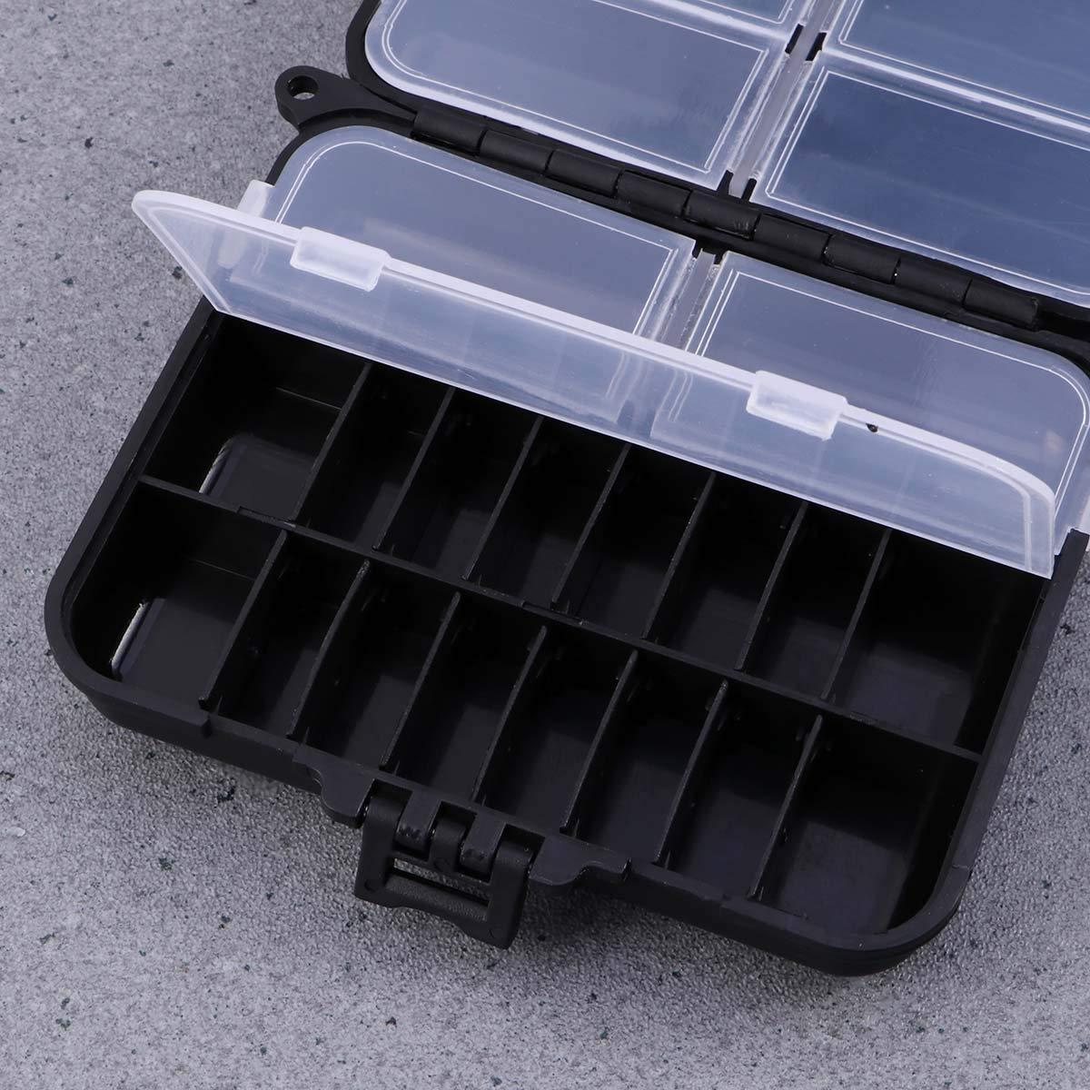 VORCOOL Fishing Tackle Box Schwarz Kunststoff Angelkasten Professionelle Angel Zubeh/ör Aufbewahrungsbox
