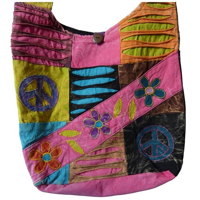 Simandra Bolsa de patchwork, bolso de cruce boho, Bolso ...