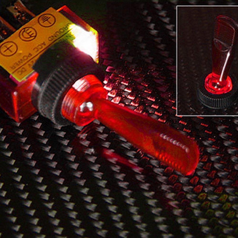 Supmico 5 X veicolo 12V 20A 3Pin LED blu luce OFF//ON interruttore a levetta a bilanciere