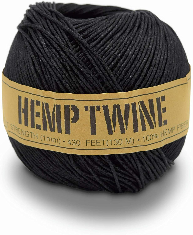 1 ball 20lb 1mm Red Hemp Twine
