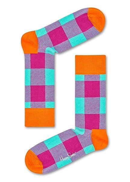 Happy Socks Lumberjack Sock, Calcetines Casual para Mujer, Morado (Lila 5000), Talla única, 1 unidad: Amazon.es: Ropa y accesorios