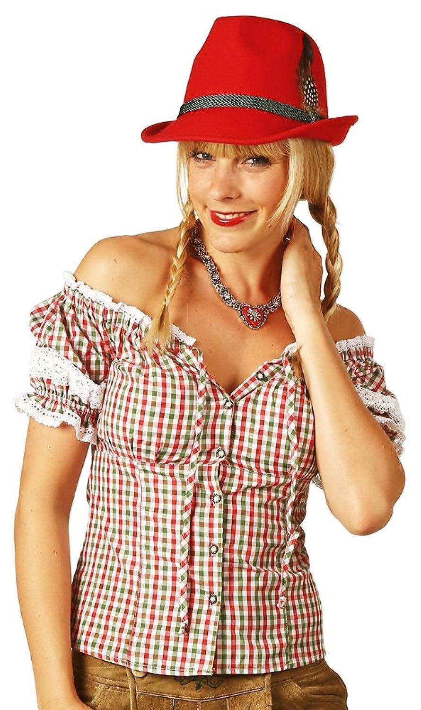 Trachtenbluse Annemarie - schöne karierte Oktoberfest Bluse zur Lederhose