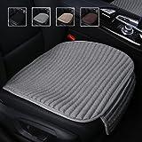 Suninbox Car Seat Cushion,Buckwheat Hulls Car Seat Covers,Ventilated Breathable Comfortable Car Cushion,Anti-skid Four Seasons General Car Seat Protector [Gray Front Seat]