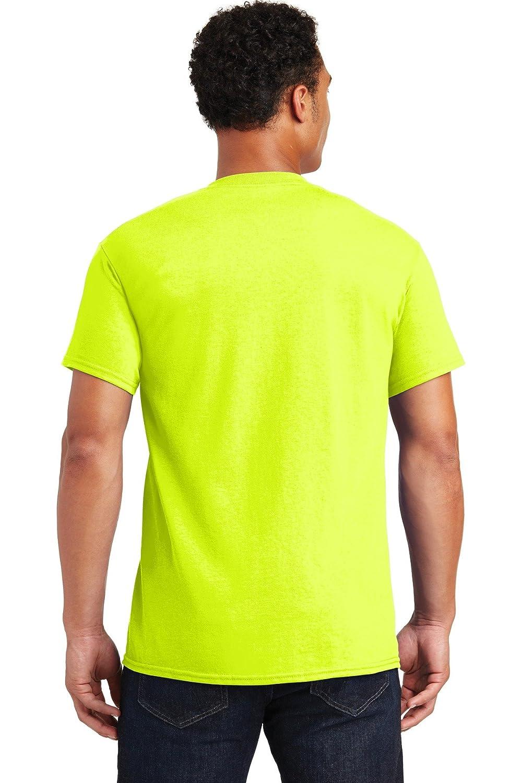 M G200 T-Shirt Gildan Cotton 6 oz Safety Green