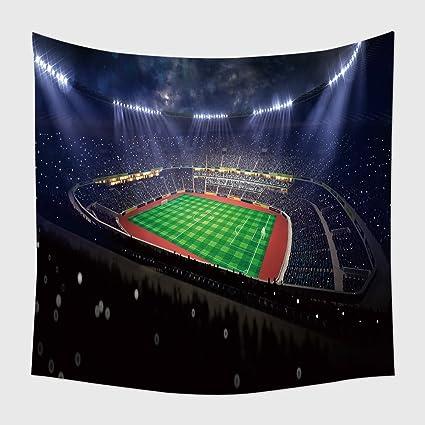Home Decor arazzo da appendere alla parete stadio di calcio in blu ...