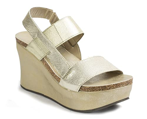 22ffcd6c16b Pierre Dumas Hester-8 Women s Strappy Platform Wedge Sandals  Amazon ...