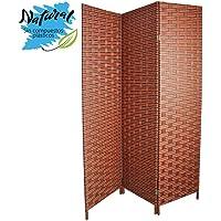 Biombo Separador para Salón/Dormitorio, Bambú Natural y Papel