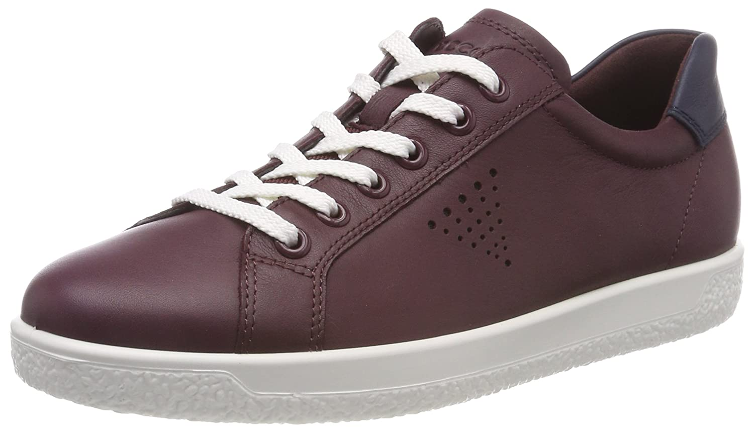 Wine ECCO Womens Soft 1 Lace Sneakers