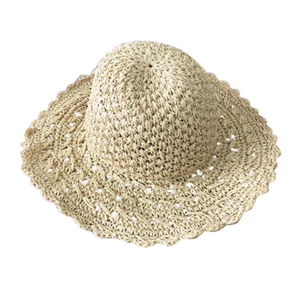 TREESTAR Sombrero de Verano Simple Hecho a Mano Ganchillo Encaje ...