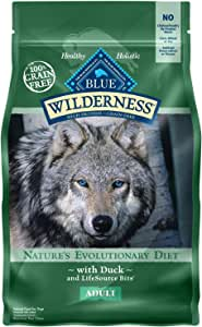 Blue Buffalo Wilderness High Protein Grain Free, Natural Adult Dry Dog Food, Duck 4.5-lb