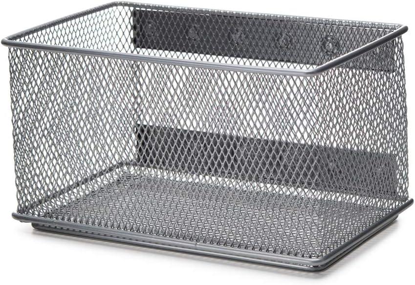 YBM HOME 2457vc Storage Basket, Silver