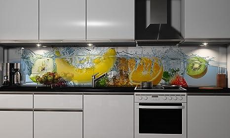 Küchenrückwand-Folie Fruchtig Klebefolie Spritzschutz Küche ...