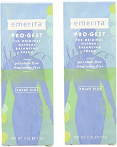 Emerita - Pro-Gest - No parabens4 Oz Cream - 2 Pack
