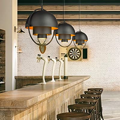 Buy Industrial Metal Pendant Light Lms Adjustable Hanging Light Fixture Kitchen Pendant Lighting With Matte Black And Gold Hemispherical Lamp Shade Lms 016 Online In Germany B07vlkrtx1