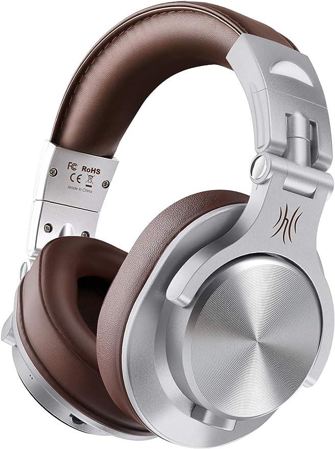OneOdio FUSION A7 Auricurales Circumaurales Inalámbricos de Cable 3.5mm, Diadema Cerrado 90°Ajustable Auricurales Plegables Bluetooth con Micrófono de ...