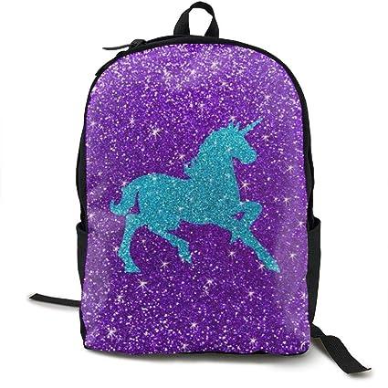 dc694a23ba31 Amazon.com: Wialis8-id Glitter Unicorn School Bookbags Bags Rucksack ...