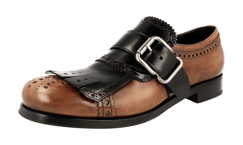 Prada Men's 2OG056 Brown Full Brogue Leather Business Shoes EU 10 (44)/US 11 by Prada