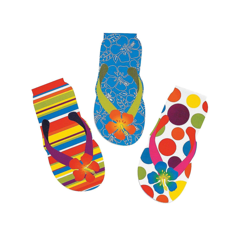 619f19fdbf5c Fun Express - Flip Flop Swirl Pops for Summer - Edibles - Sucker ...