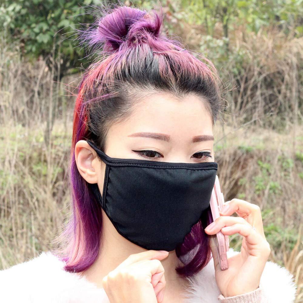 Jinjin 1Pc/10Pcs Health 3 Layers Cycling Anti-Dust Cotton Mouth Face Mask Respirator Men Women (1Pc)