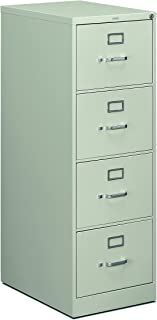 product image for HON 4-Drawer Legal File - Full-Suspension Filing Cabinet with Lock, 52 by 25-Inch Light Gray (H514)