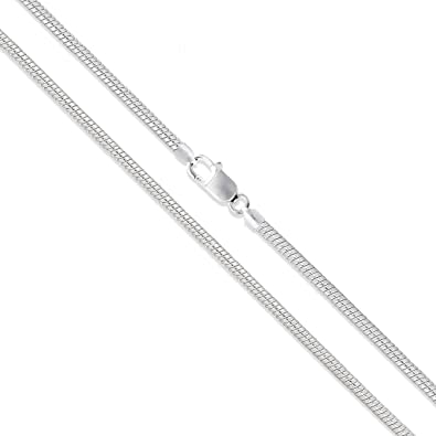 15 Inch .925 Sterling Silver Long and Short Oval Chain Necklace