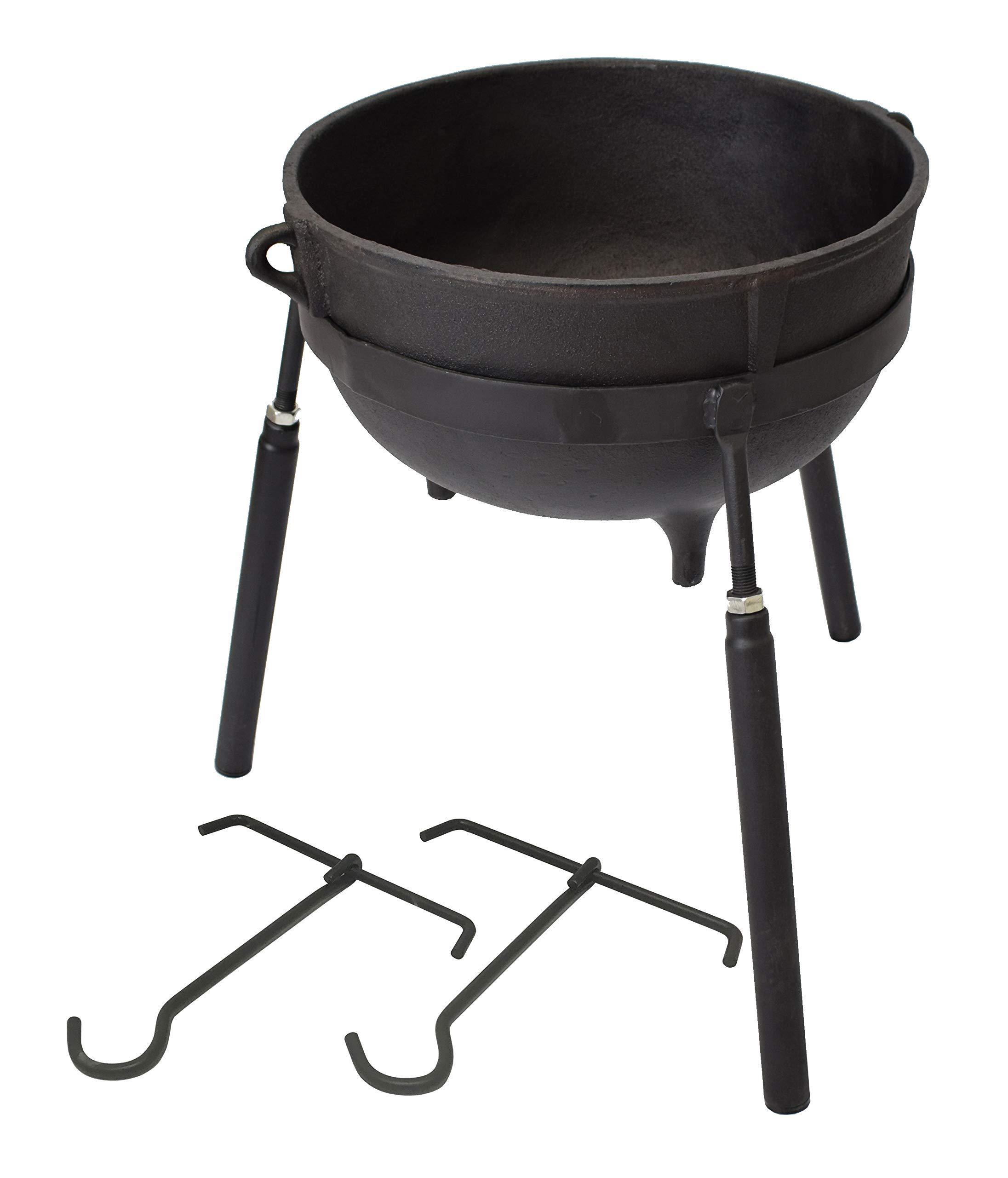 COOKAMP 7-Gallon Heavy Duty Cast Iron Jambalaya Pot, with Stand [JA07]