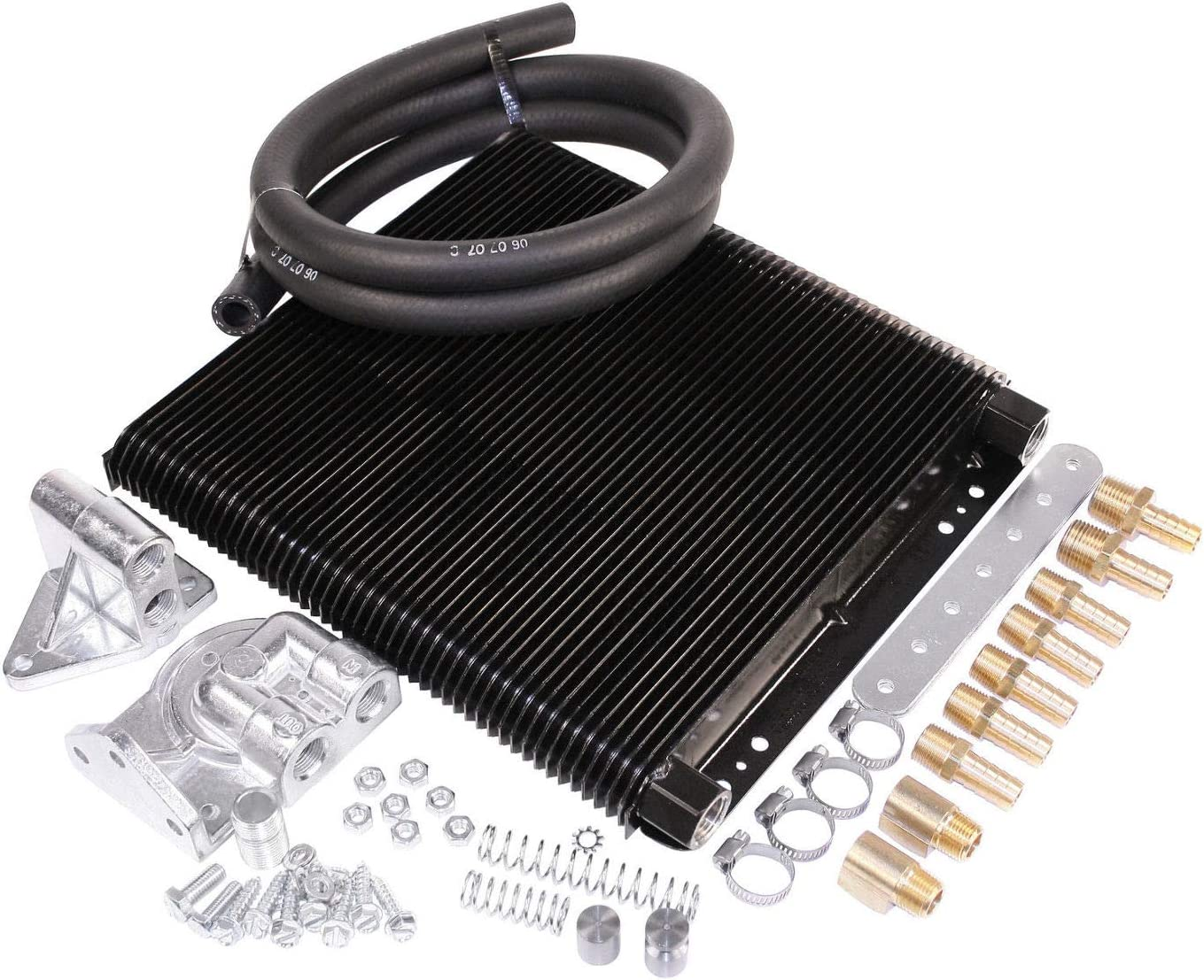 ALL T1 /& T2 Thru 71 EMPI 9270 Competition MESA Style 48 Plate Oil Cooler Kit