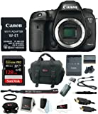 Canon EOS 7D Mark II Body Wi-Fi Adapter Kit + 128GB Bundle