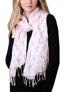 Winter Women DACHSHUND Scottie Westie Dog Print GREY Scarf 100/% Cotton