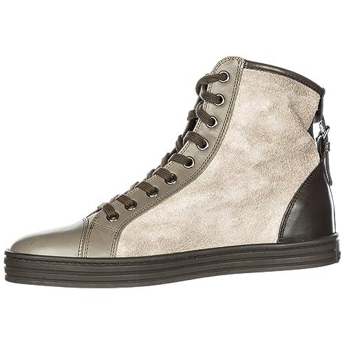 Hogan Rebel Scarpe Sneakers Alte Donna in camoscio Nuove r182 Beige EU 36.5  HXW1820D6619BQ0AZ8  Amazon.it  Scarpe e borse 045b1e06bd3