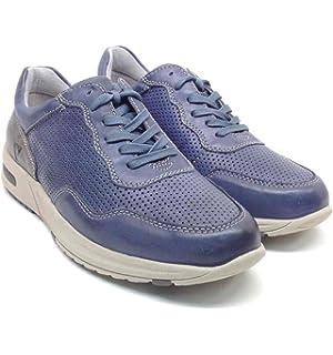 Valleverde Scarpe Uomo Sneakers in Pelle blu 17811-AVIO