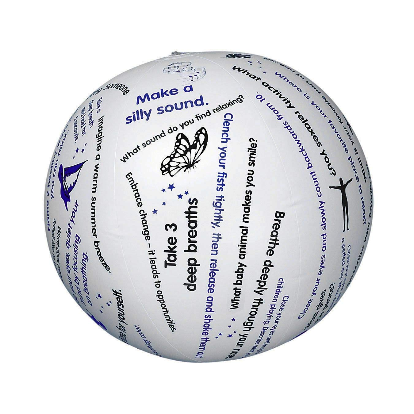 S&S Worldwide Toss 'n Talk-About Relaxation Ball, 24in