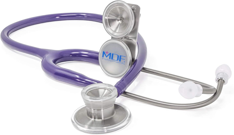MDF® MD One® Epoch Estetoscopio Titanio - Garantía de por vida & Programa-piezas-gratuitas-de-por-vida - Morado (MDF777DT-08)