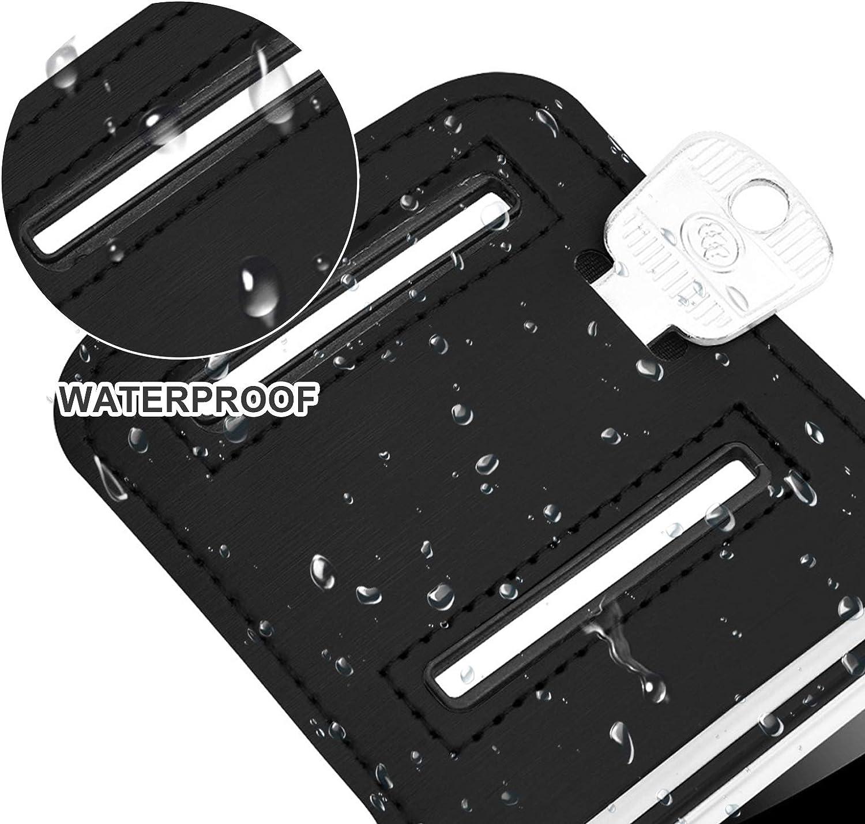 LxwSin Brazalete Deportivo Samsung Galaxy Huawei Nokia Brazalete para Correr,6,1 Brazalete Smartphone Universal con Soporte para Llaves,Compatible con iPhone 11//12//12Por Brazalete Correr Ajustable
