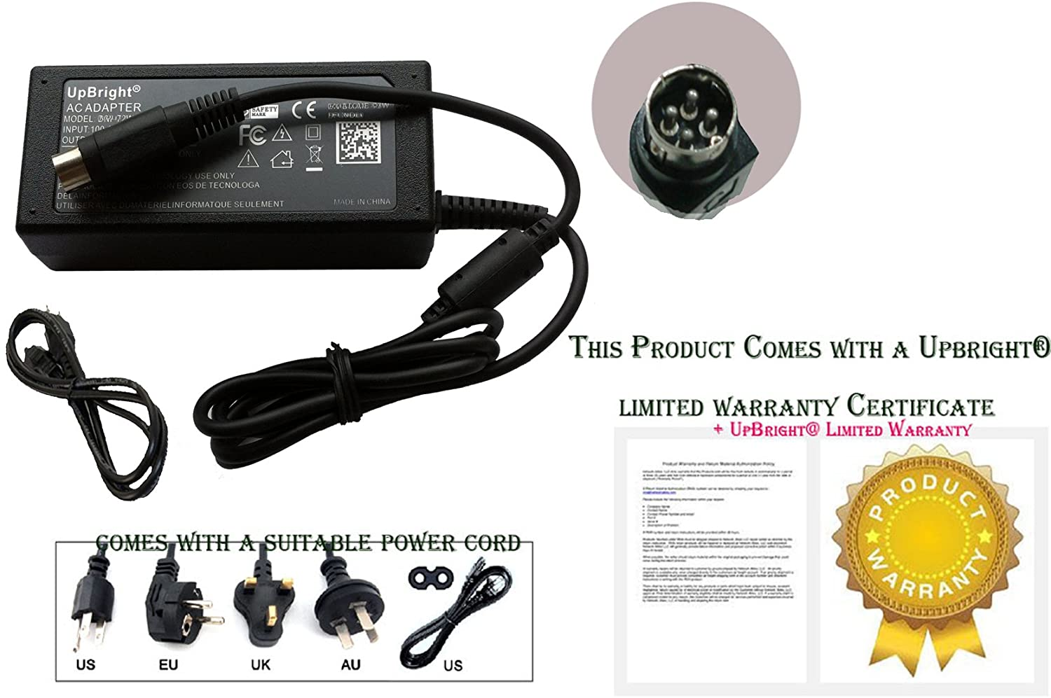 54.0V Switching Power Supply Cord Charger PSU UpBright New Global 4-Pin DIN AC//DC Adapter Replacement for FSP Group INC FSP090-DMBC1 FSP090DMBC1 P//N Model No. 9NA0903503 9NA0903501 48-54V 48V