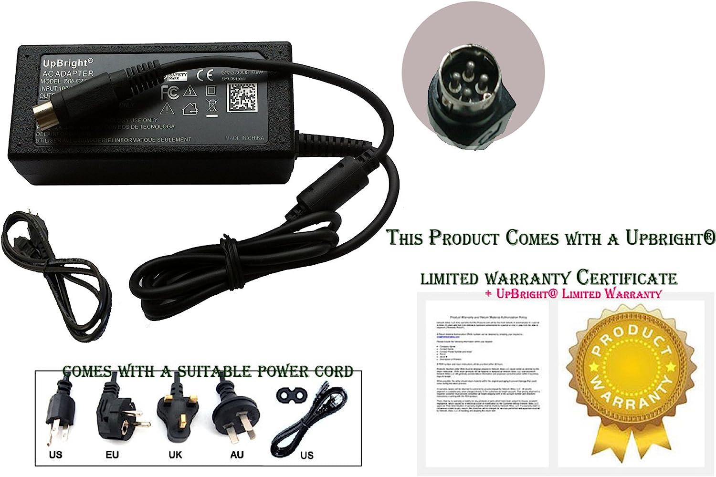 UpBright Big 4 Metal Pin DIN 48V AC//DC Adapter Replacement for NETGEAR NU60-F480125-I1NN NU60-F480125-I1 332-10290-01 NU60-F480125-11NN NU60-F480125-IINN LEI Leader 48VDC 1.25A 60W Power Supply Cord