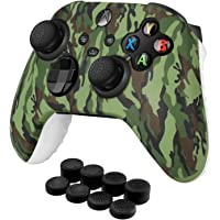 TNP Controller Cover Skin Case with Thumb Grips (Green) Fit for Xbox Series X S & X-Box One XS Gamepad - Soft Studded…
