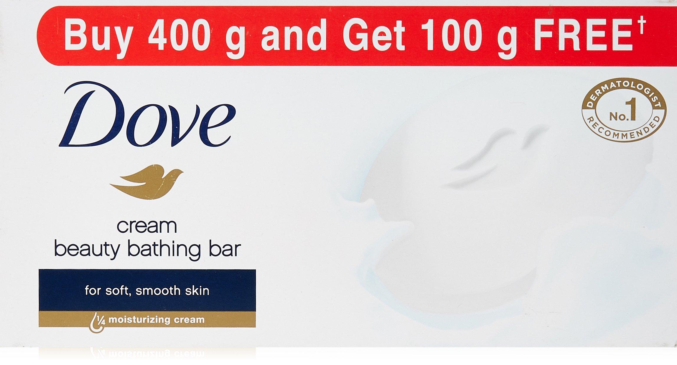 Dove Cream Beauty Bathing Bar, 100g (Buy 4 Get 1 Free) product image