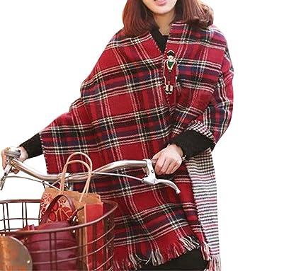 Ghope écharpe femme châle grande taille plusieurs couleurs orangé  rouge bleu  foncé cache- f93b0f7c2be