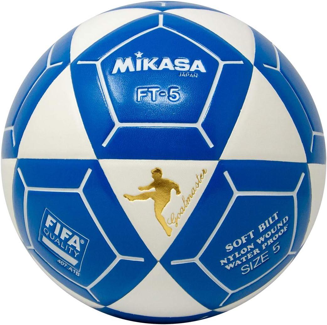 Mikasa FT5 meta Maestro pelota de fútbol, color blanco/azul ...
