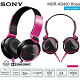 Sony MDR-XB400 XB Series Extra Bass Headphones (Pink)