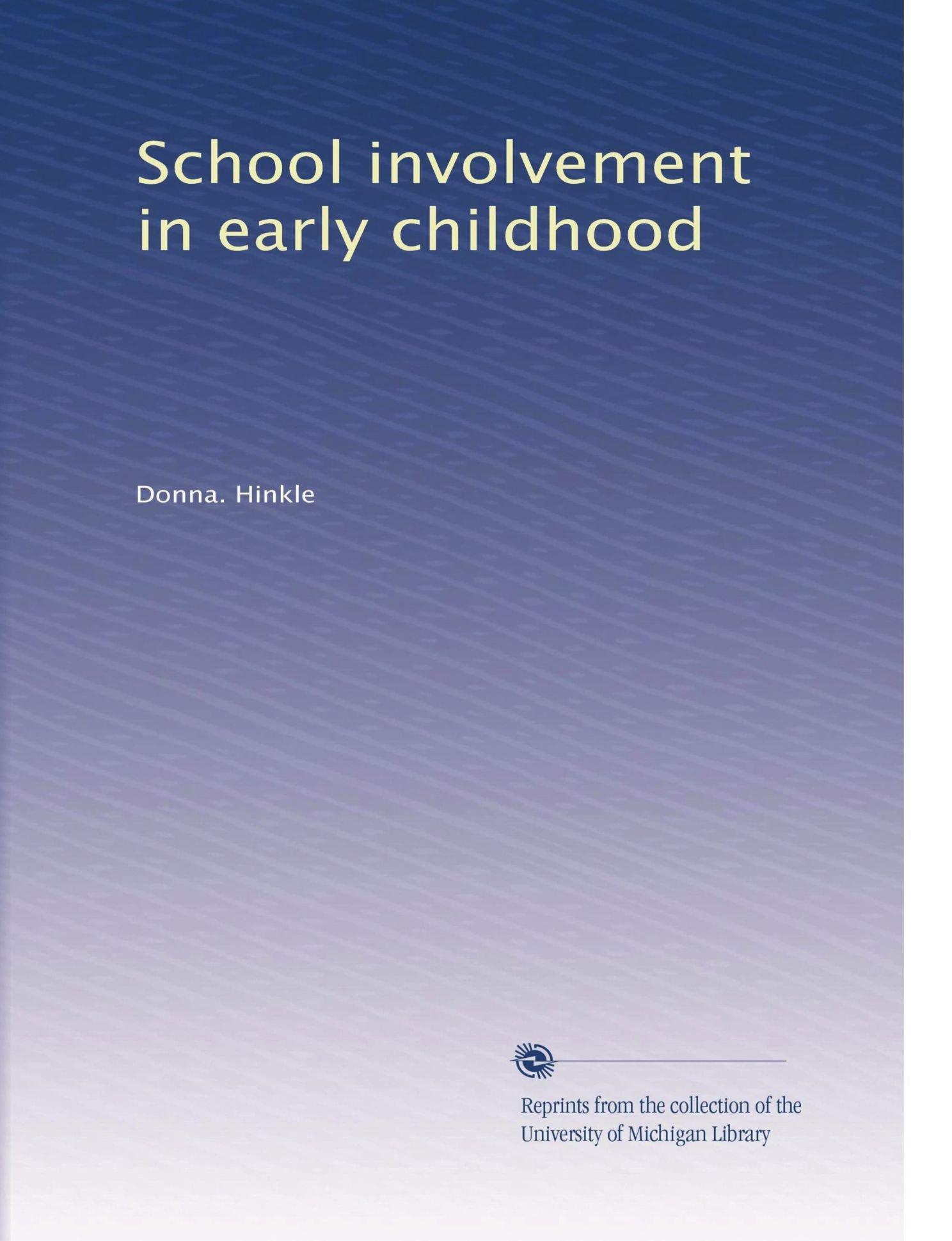 Download School involvement in early childhood pdf epub