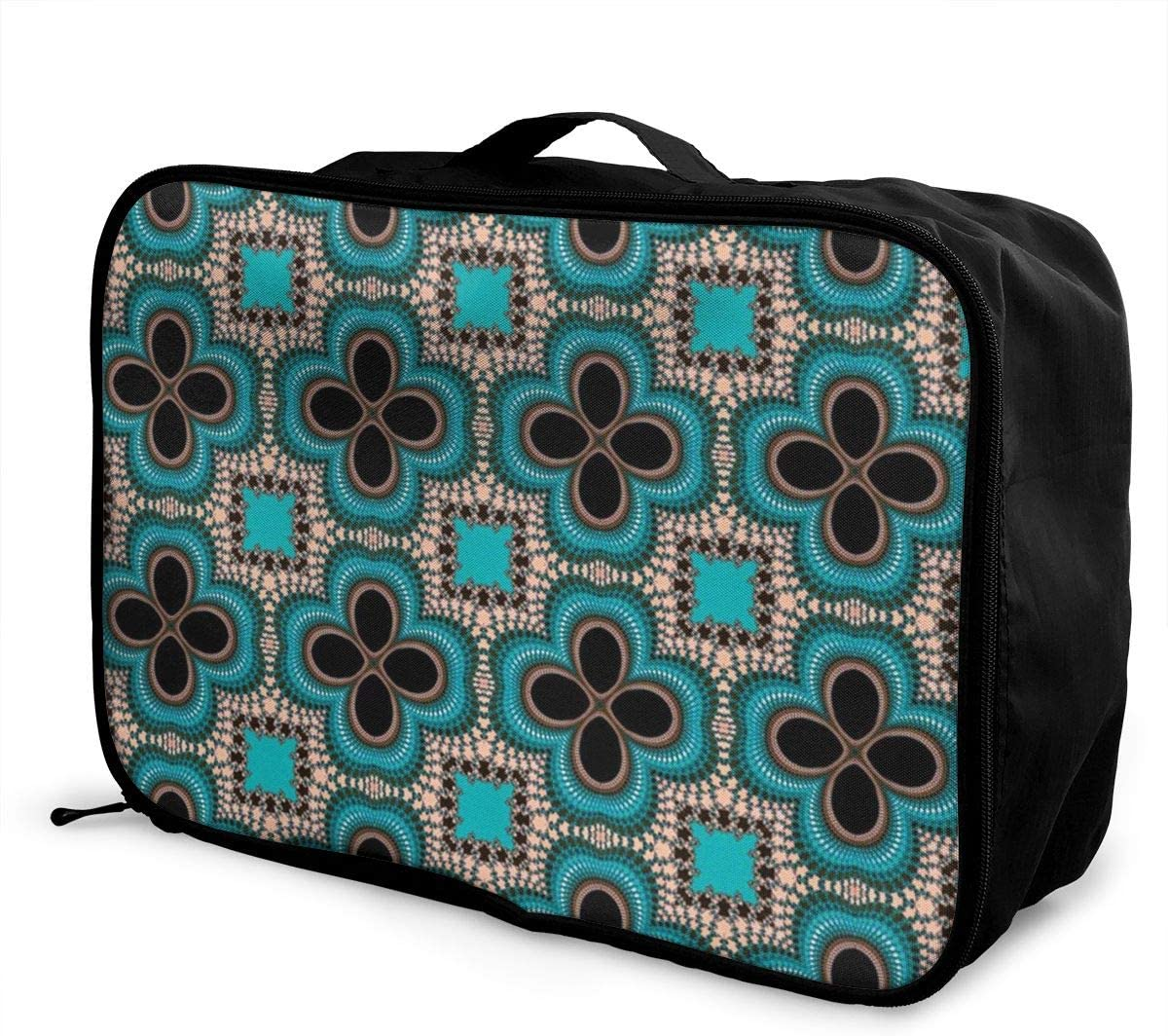 Yunshm Seamless Wallpaper Pattern Ornament Symmetry Customized Trolley Handbag Waterproof Unisex Large Capacity For Business Travel Storage