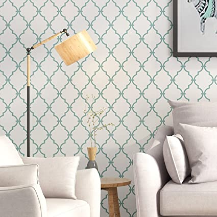 Blooming Wall Prepasted Elegant Trellis Wallpaper Removable Peel And Stick Paint Self