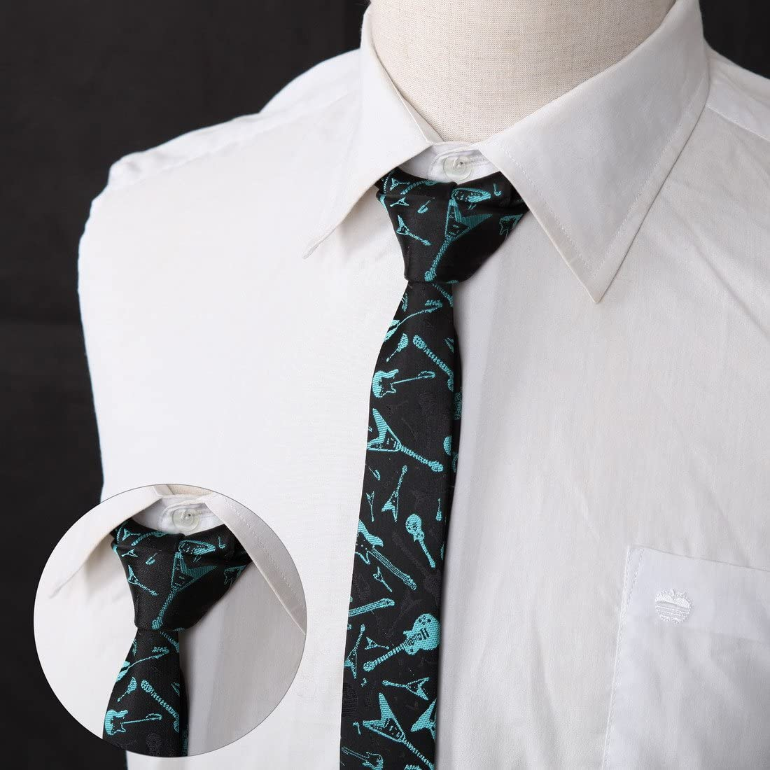 DANF0033 Various Colors Polyester Slim Ties Perfect Design Skinny Ties 5 Styles Available Suppliers For Working By Dan Smith