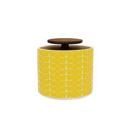 Orla Kiely Linear Stem Storage Jar Yellow 1l