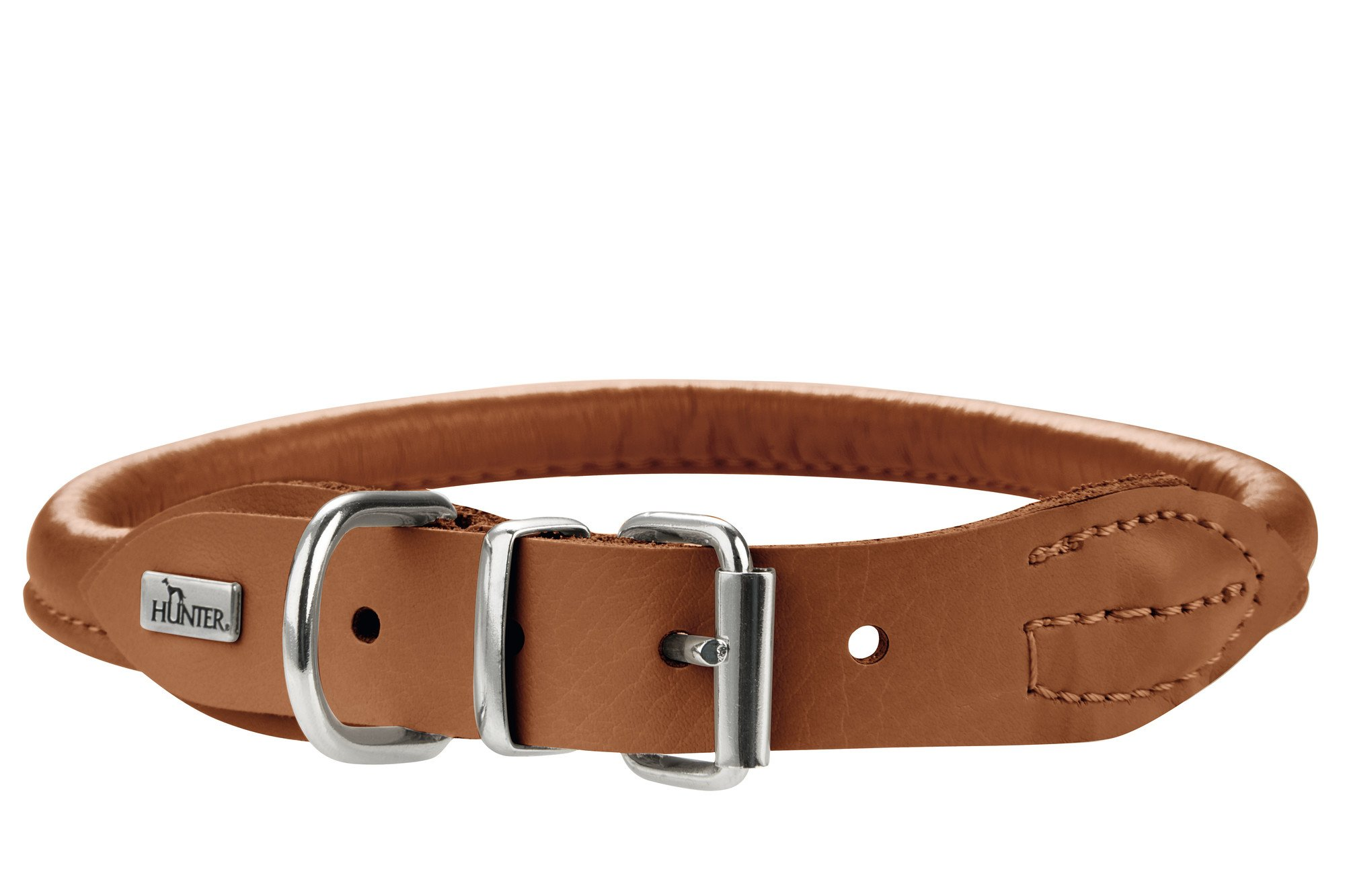 Collar para perro Hunter, redondo y suave, alce, talla 38-42 cm, coñac by Hunter
