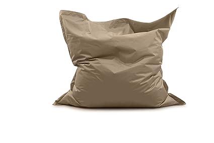 Avalon pouf cuscino medio quadrato samba tessuto tecnico per
