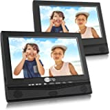 """10.1"""" Dual Screen Portable DVD Player with Car Headrest Mount Holder, 5 Hours Rechargeable Battery Car Headrest DVD Player"""